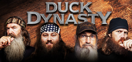 Picture of Duck Dynasty characters showing four men with full manly beards
