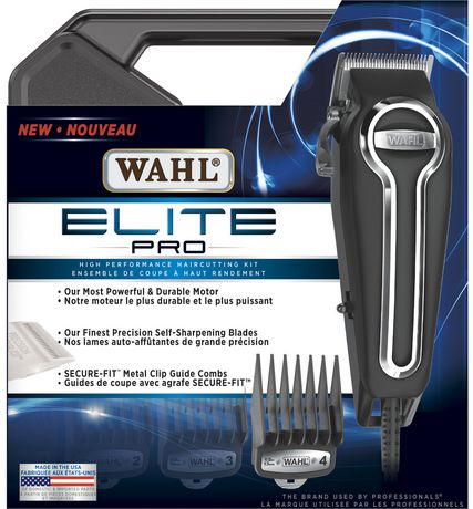 The package containing the Wahl Elite pro