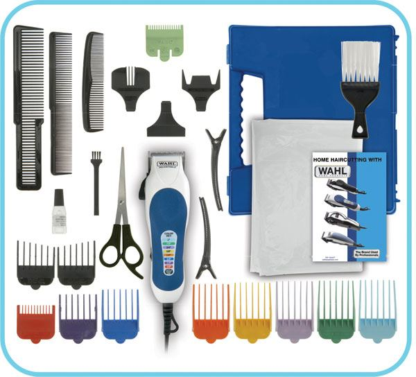 Items found in the box of the Wahl Color Pro 20-Piece Complete Haircut