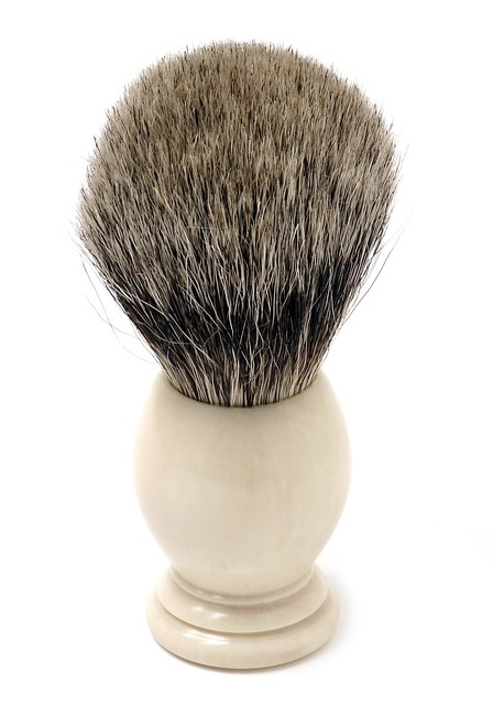 shaving brush allows better placement of cream