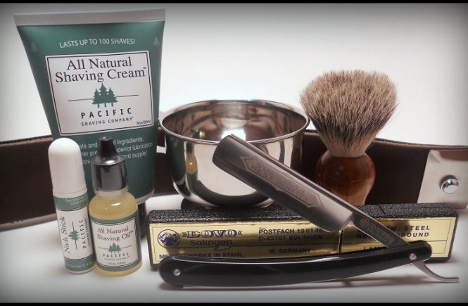 old fashioned shaving set
